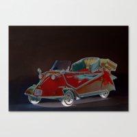 bmw Canvas Prints featuring BMW Messerschmitt by LoRo  Art & Pictures