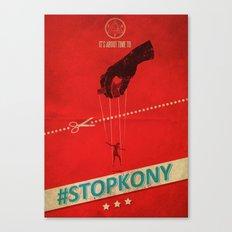 #KONY2012 And #StopKony Campaign Canvas Print