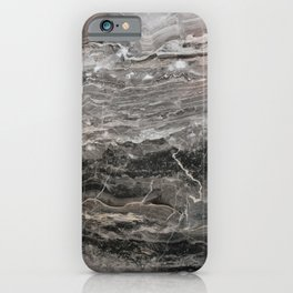 Smokey gray marble iPhone Case