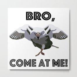 Goose Attack! Metal Print