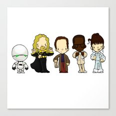 Hitchhikers guide Canvas Print