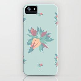 Succulent floral element & patterns iPhone Case