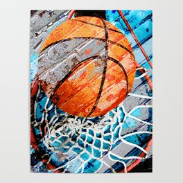 Modern basketball art 3 Poster