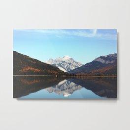 White Swan Lake Metal Print