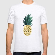 Pineapple Ash Grey LARGE Mens Fitted Tee