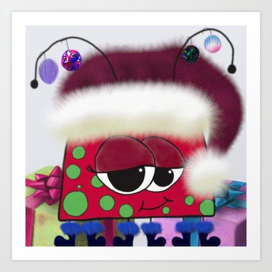 The Christmas Love Bug Art Print