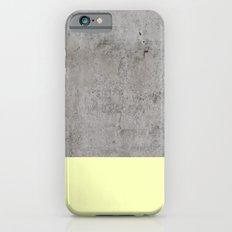 Yellow on Concrete Slim Case iPhone 6