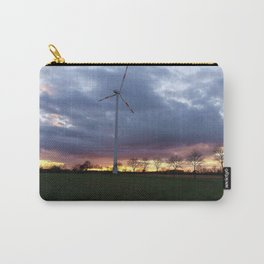 Sun Setting Over the Windmill Carry-All Pouch