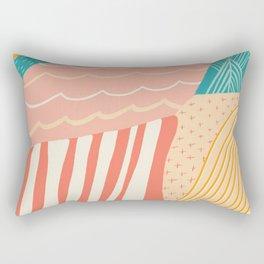 beach quilt Rectangular Pillow