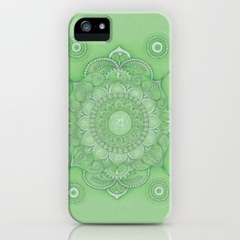 mandala Chakra Anahata iPhone Case