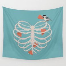 The Heart Collector Wall Tapestry