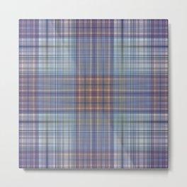 Classic Scottish plaid tartan pattern Metal Print