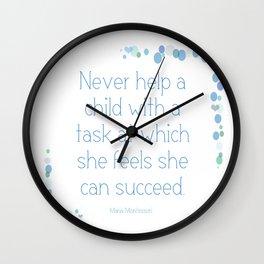 Montessori Quote for Children Wall Clock