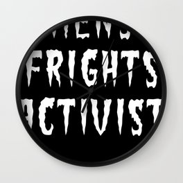 MENS FRIGHTS ACTIVIST (WHITE) Wall Clock