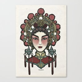 Painted Face Series : Cantonese Opera Singer Canvas Print