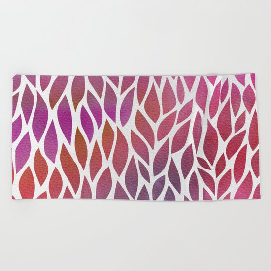 Petals Pattern #3 Beach Towel