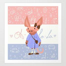 Little Missy  Aardvark in France! Art Print