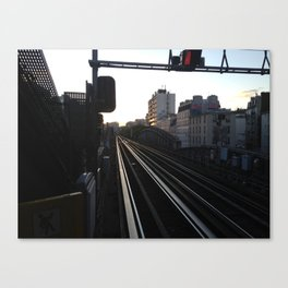 Paris  Tracks at Sunset Canvas Print