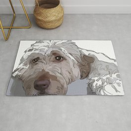 Old English Sheep Dog (white) Rug