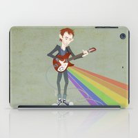 radiohead iPad Cases featuring Radiohead Thom in Rainbows by AnaMF