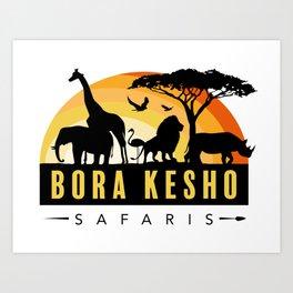 Bora Kesho Safaris Art Print