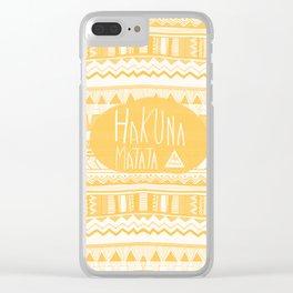 Hakuna Matata Yellow Clear iPhone Case