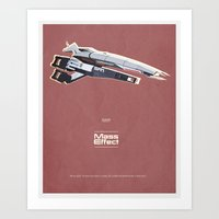 mass effect Art Prints featuring Mass Effect by Simon Alenius