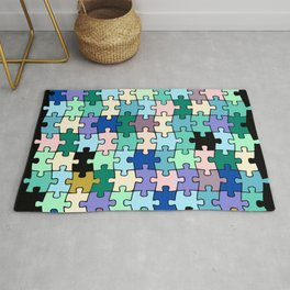 Colorful Jigsaw Puzzle Rug
