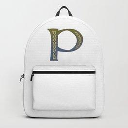 Celtic Knotwork Alphabet - Letter P Backpack