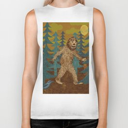 Bigfoot birthday card Biker Tank
