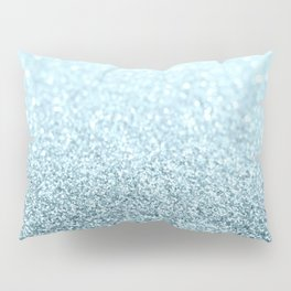 Ice Blue Glitter Sparkle Pillow Sham