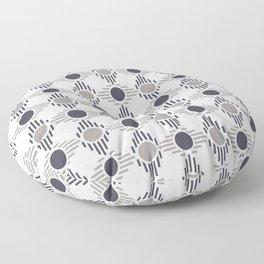 Geometric Pattern. Circles and Rhombuses Floor Pillow