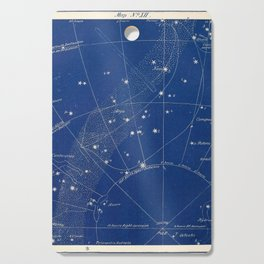 Astronomy without a telescope (1869) - Map of the Sky including Argo and South Pole Cutting Board