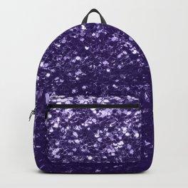 Dark ultra violet purple glitter sparkles Backpack