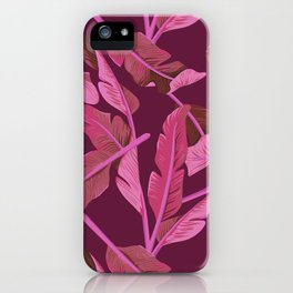 Tropical '17 - Ajaja [Banana Leaves] iPhone Case