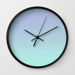 IRREVERSIBLE - Minimal Plain Soft Mood Color Blend Prints Wall Clock
