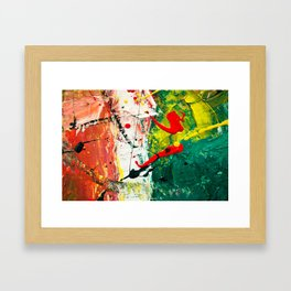 Red White and Green Italian Flag Abstract Painting Framed Art Print