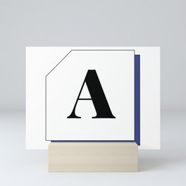 Capital letter A Mini Art Print