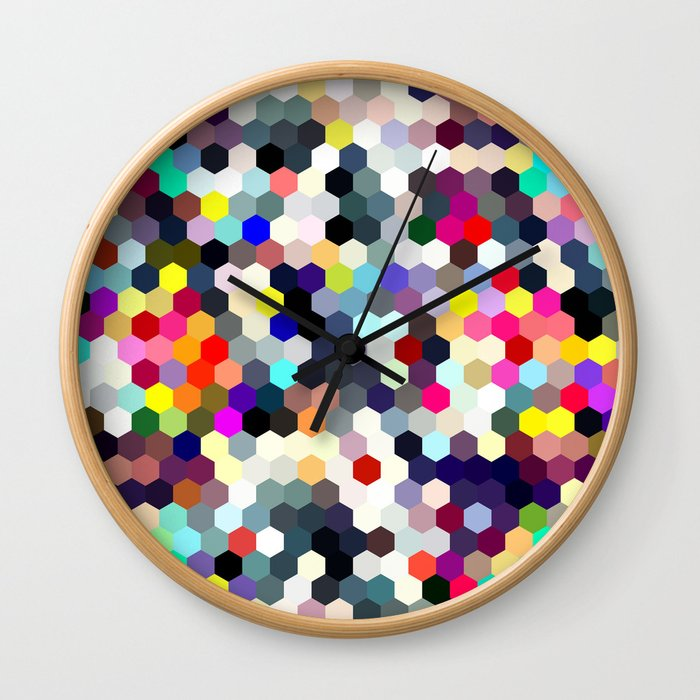 Honeycomb No. 1 Wall Clock