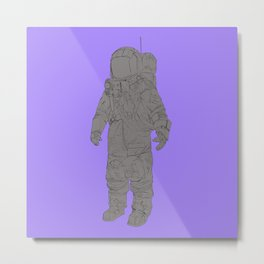 Astronaut Purple Metal Print