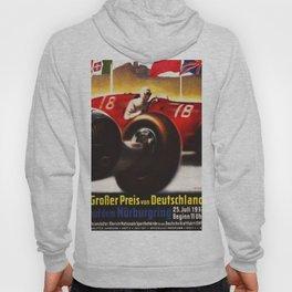 1937 Grand Prix Motor Racing Nurburgring Germany Vintage Advertising Poster Hoody