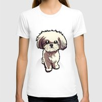 shih tzu T-shirts featuring Alice (Shih Tzu) by BinaryGod.com