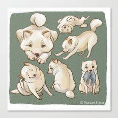 Kiba The Blind Shiba, Concept Art Canvas Print
