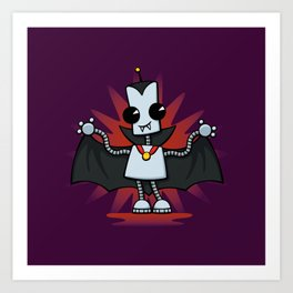 Ned the Vampire Art Print