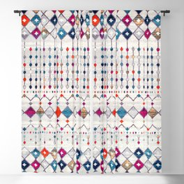 (N9) Modern Traditional Moroccan Artwork. Blackout Curtain