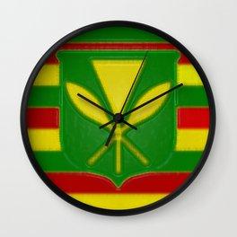 Fancy Flag:  Hawaii Kanaka Maoli Wall Clock