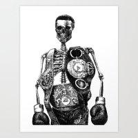 mike tyson Art Prints featuring Mike Tyson by Motohiro NEZU