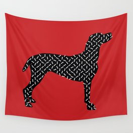 the greedy dog Wall Tapestry