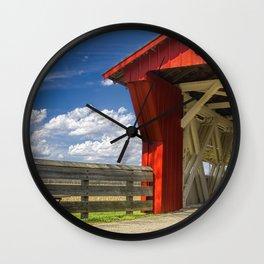 Ohio Pottersburg Covered Bridge Wall Clock