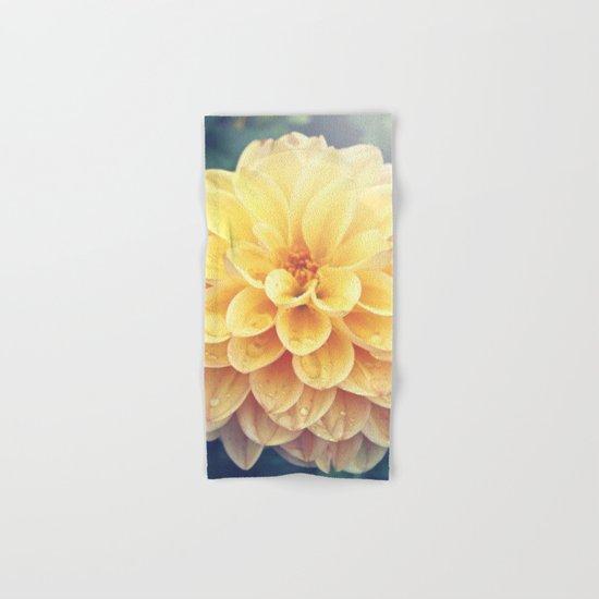 Pretty Yellow Dahlia Hand & Bath Towel